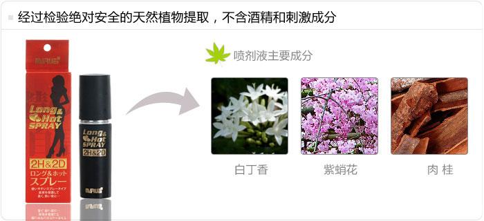 经过检验绝对安全的天然植物提取,2H&2D不含酒精和刺激成分