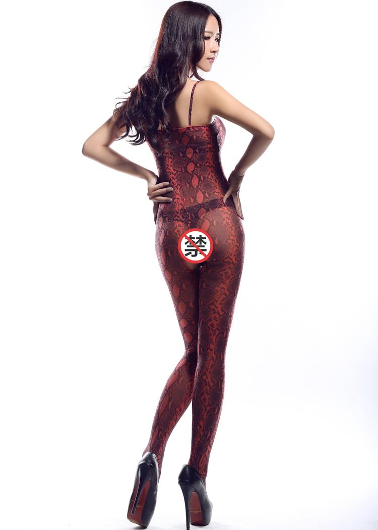 Selebritee红色豹纹开裆连身袜179179红03
