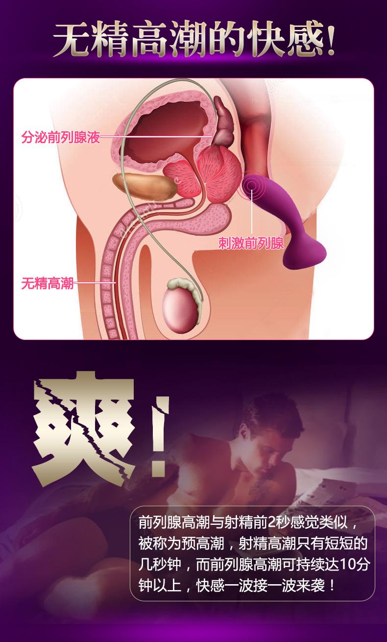 前列腺高潮是怎样的?当按摩棒刺激前列腺进行震动和抽插活塞运动,前列腺会分泌前列腺液
